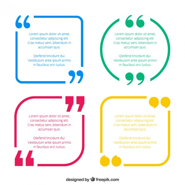 626x626 Quotes Template Pack Vector Free Download