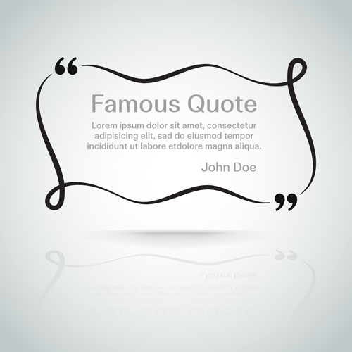 500x500 Text Frames For Quote Vector 06 Free Download