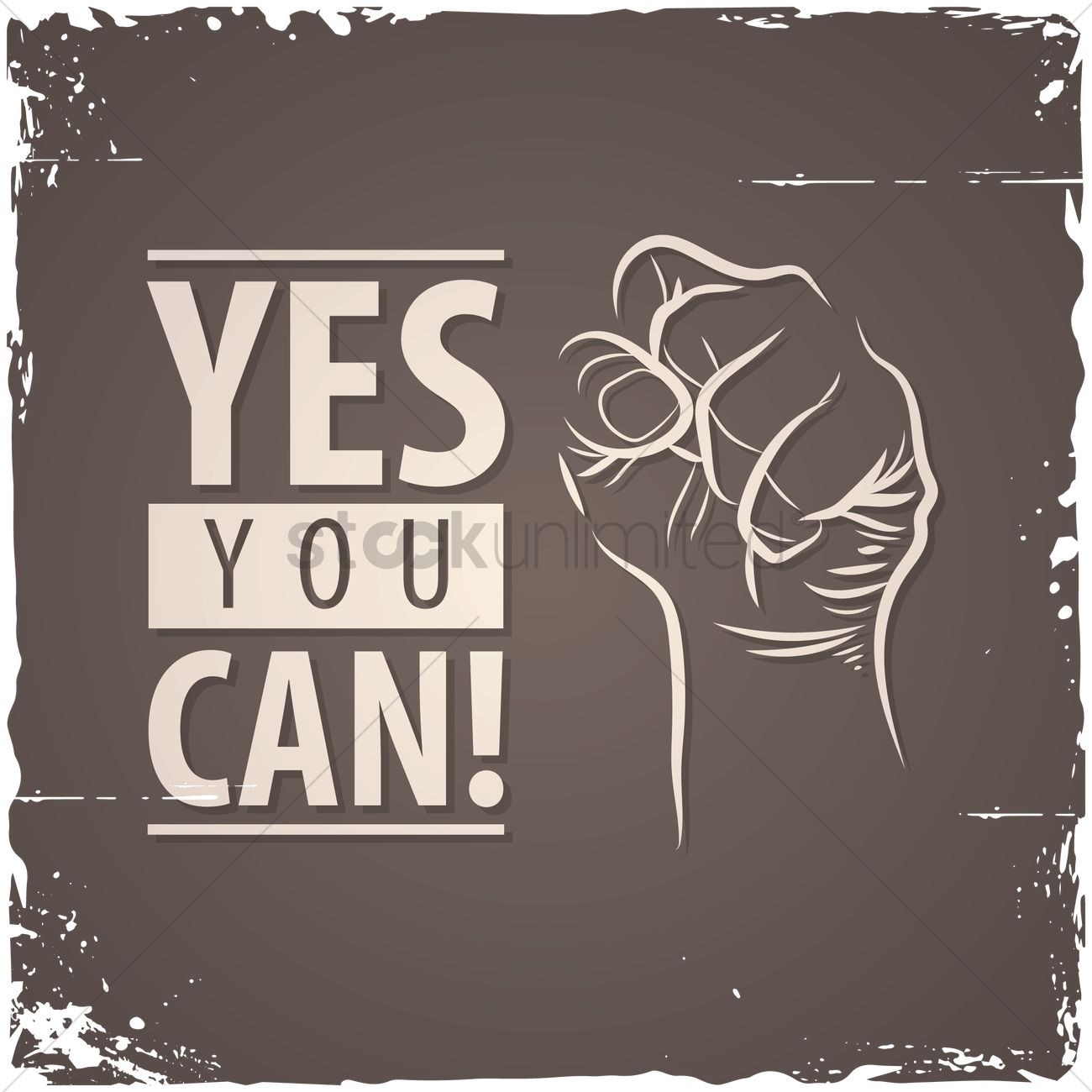 1300x1300 Yes You Can! Quote Vector Image