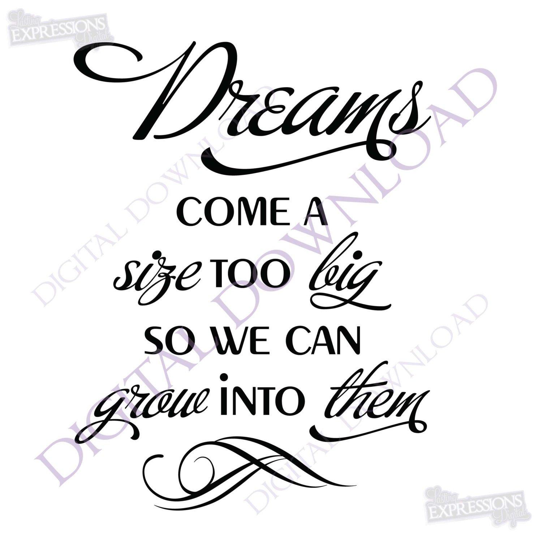 1500x1500 Dreams Quote Vector Digital Design Download