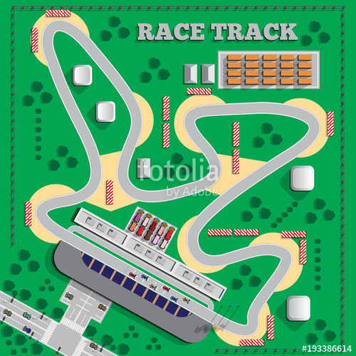 500x500 Race Track. View From Above. Vector Illustration. Stock Image And