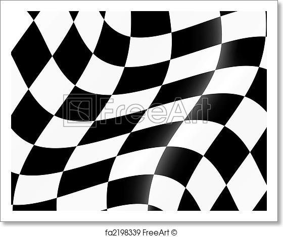 560x470 Free Art Print Of Racing Flag. Black And White Checked Racing Flag