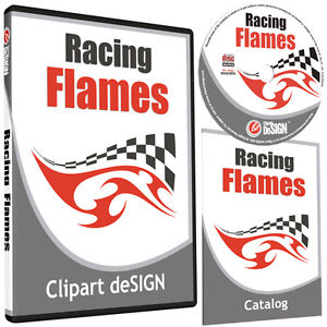 300x300 Racing Flames Clipart Vinyl Cutter Plotter Images Eps Vector Clip