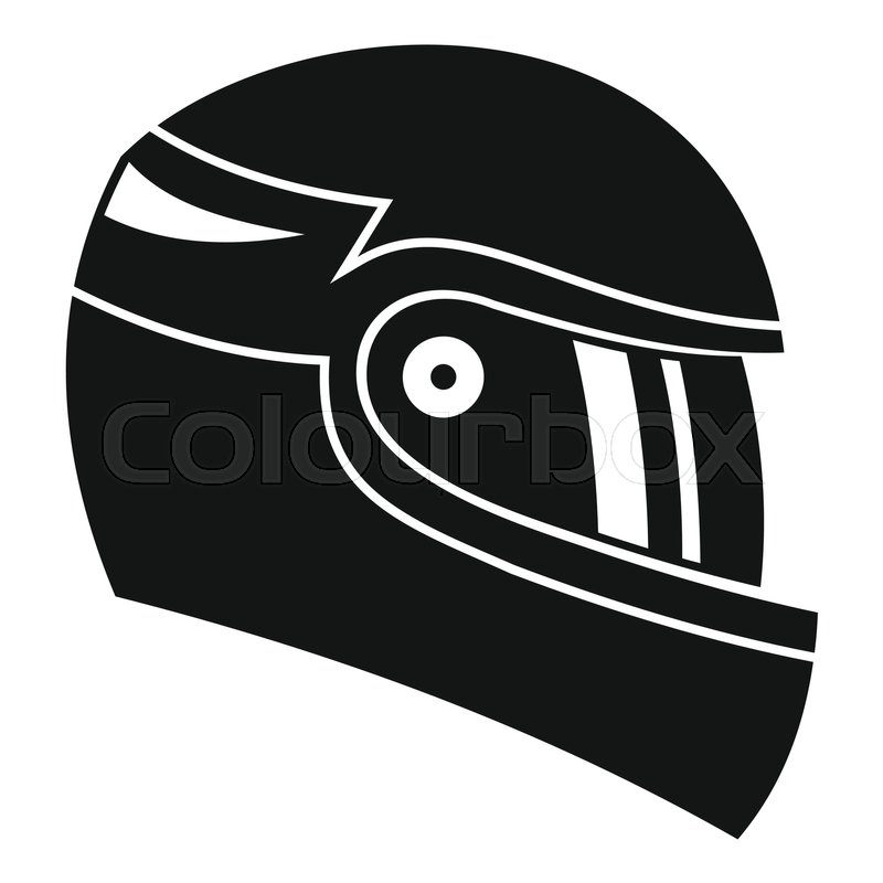 800x800 Racing Helmet Icon. Simple Illustration Of Racing Helmet Vector