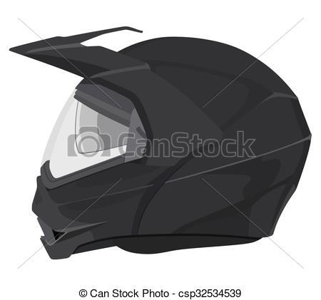 450x421 Black Motorcycle Helmet. Motorcycle Helmet On A White Background.