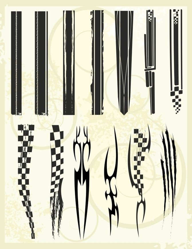 670x867 Racing Stripes, Flags And Tribals V I N Y L Racing