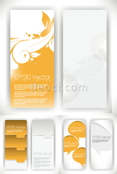 500x739 Free The Creative Pattern X Banner Display Rack Vector Templates