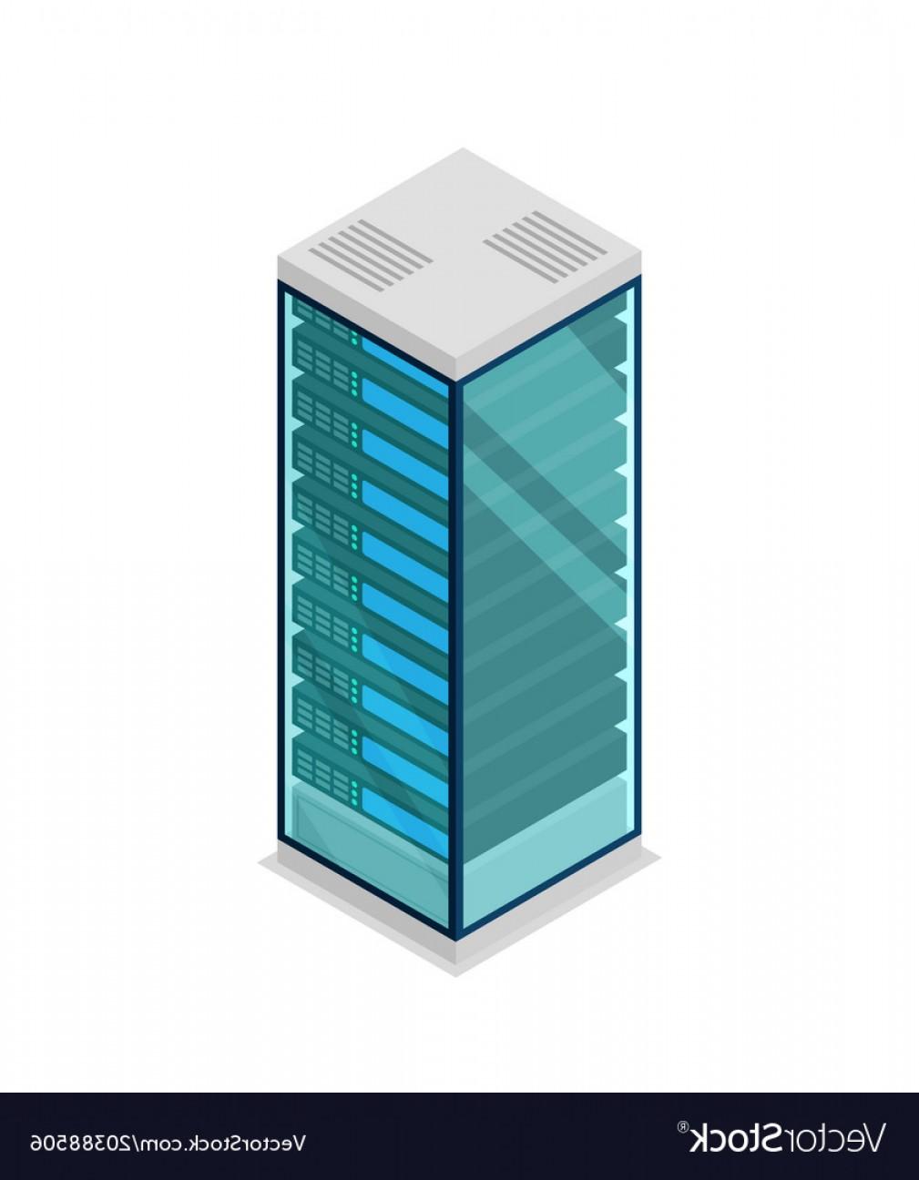1009x1296 Network Server Rack Isometric D Icon Vector Arenawp