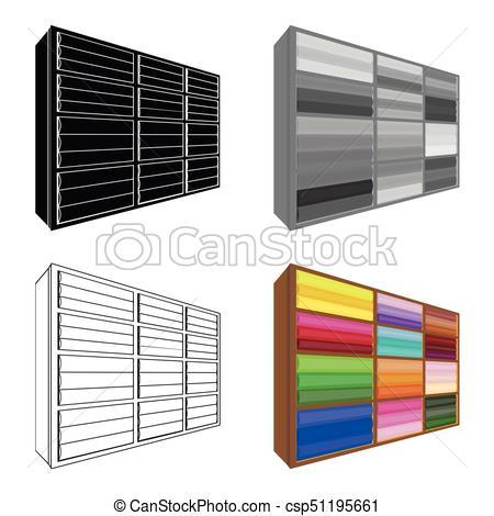 450x470 Rack Single Icon In Cartoon Style.rack, Vector Symbol Stock
