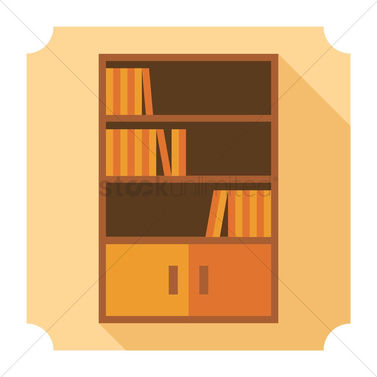 1300x1300 Book Rack Vector Image