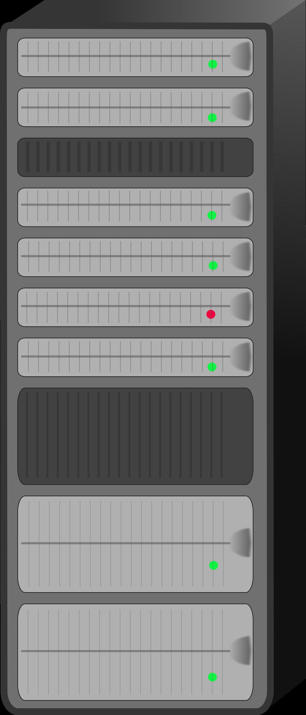 1028x2400 Server Rack Vector Clipart Image