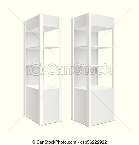 450x470 Showcase Display. Retail Shelf Rack. Isolated On The White