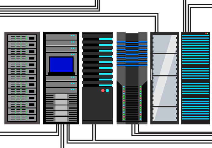 700x490 Free Server Rack Vector