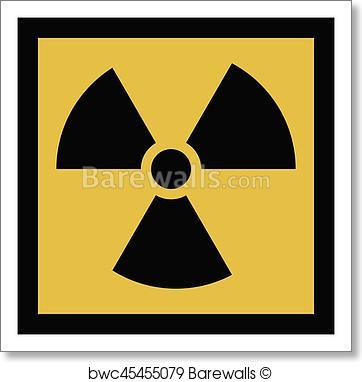 362x382 Art Print Of The Radiation Vector Icon. Radiation Symbol