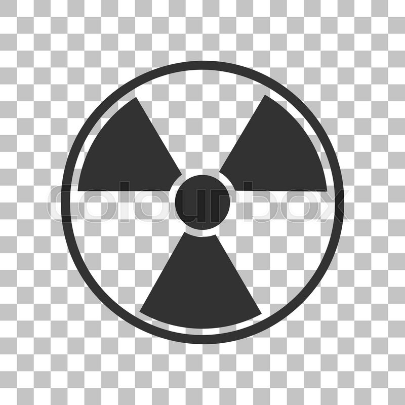 800x800 Radiation Round Sign. Dark Gray Icon On Transparent Background