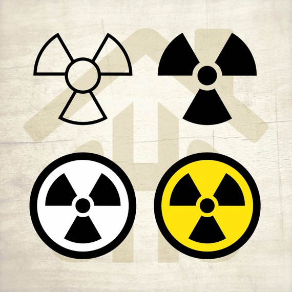 570x570 Radiation Svg Radiation Vector Radiation Digital Clipart Etsy