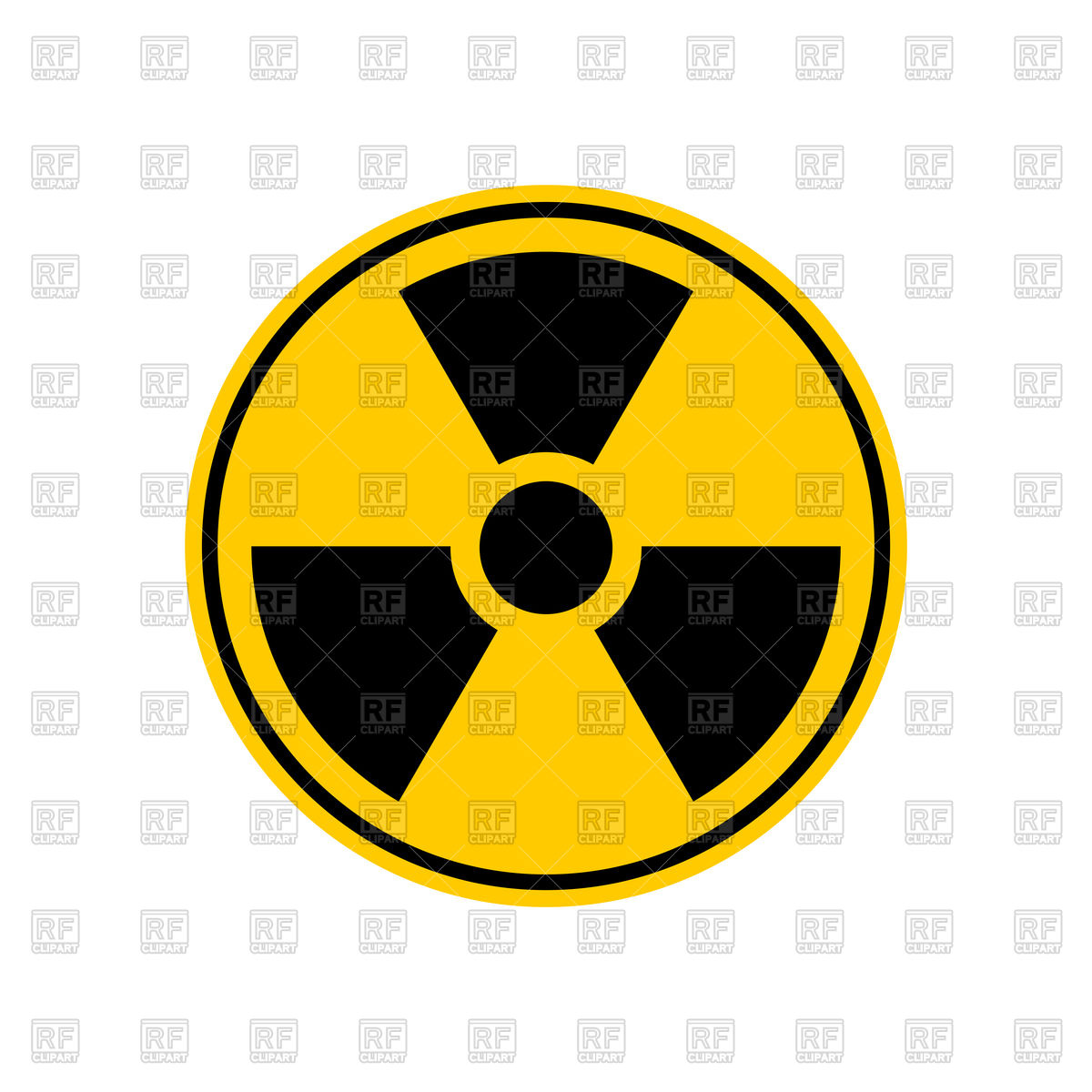 1200x1200 Radiation Danger Sign Vector Image Vector Artwork Of Signs
