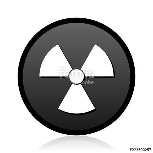500x500 Radiation Vector Black Icon. Round Atom Sign. Web Nuclear Symbol