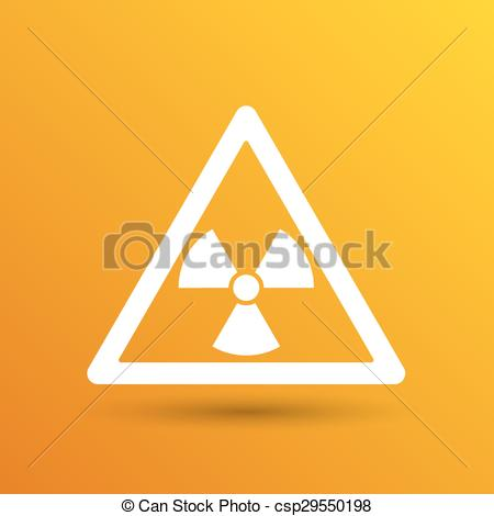 450x470 Sign Radiation Vector Icon Caution Nuclear Atom Power. Eps Vectors
