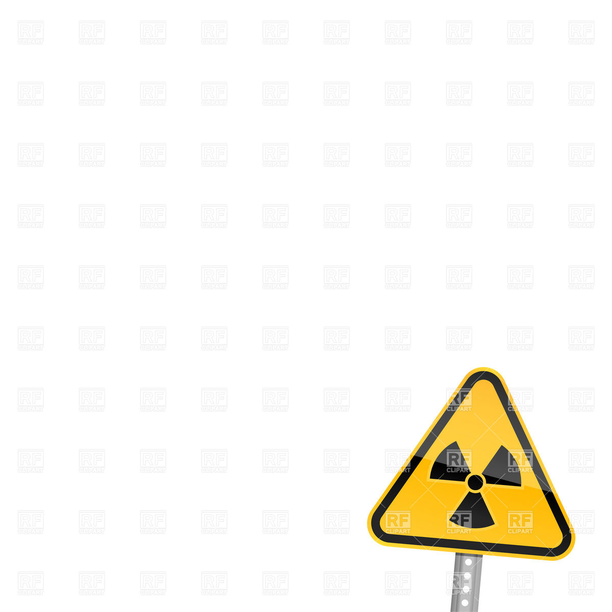 1200x1200 Warning Road Sign With Radiation Symbol Vector Image Vector