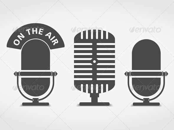 590x443 Microphone Icons By Human Graphicriver