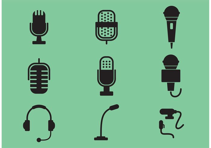 700x490 Microphone Vector Icons