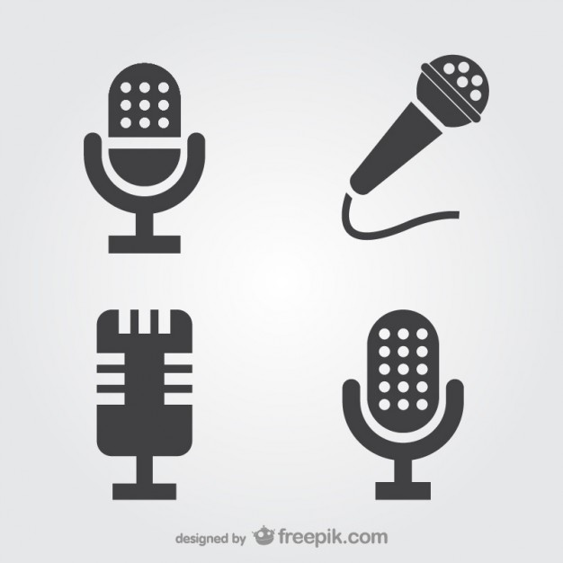 626x626 Microphone Icons Set Vector Free Download