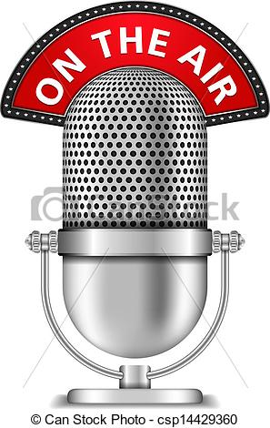 297x470 Microphone On The Air. Retro Microphone On The Air, Vector Eps10