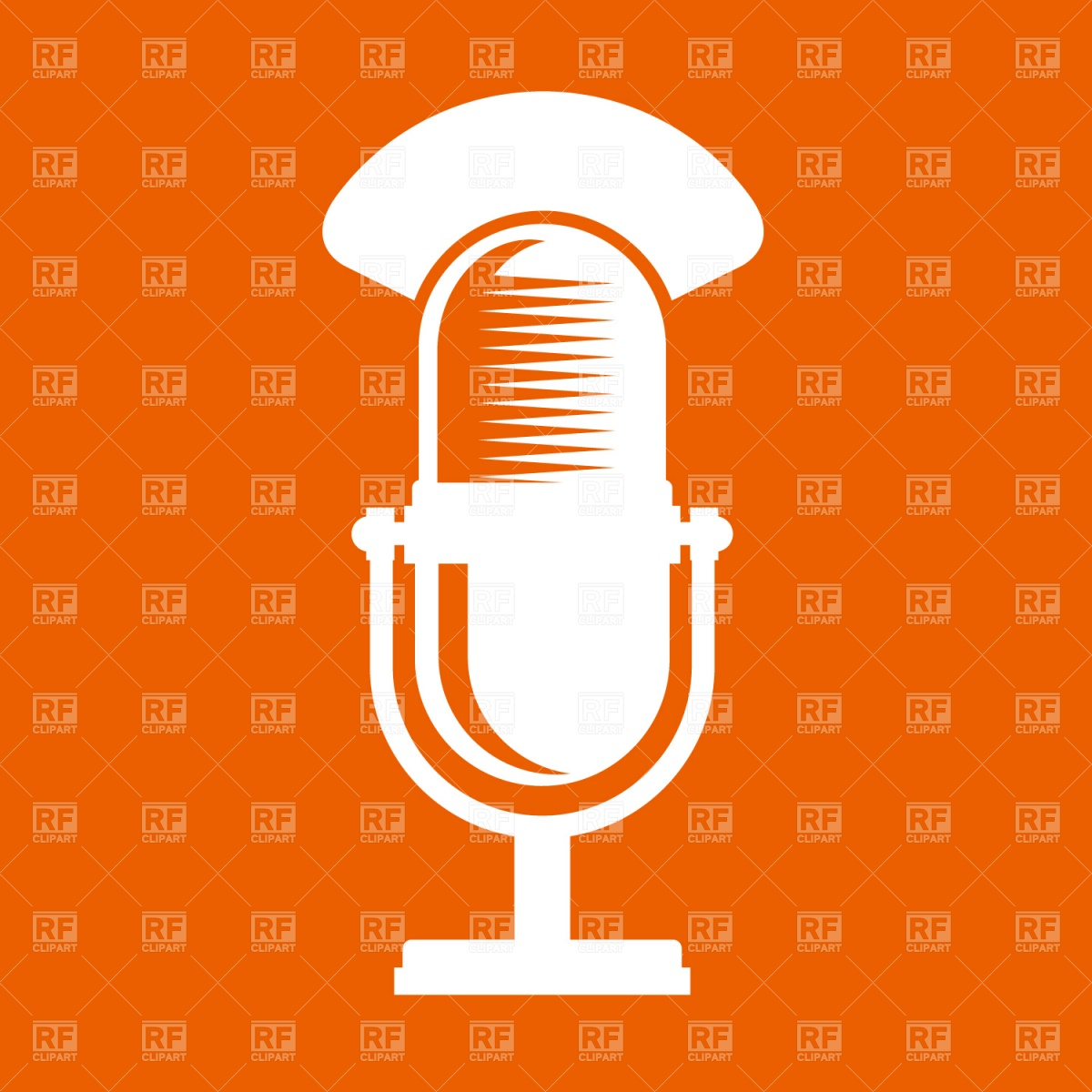 1200x1200 Retro Microphone Vector Image Vector Artwork Of Objects Prague