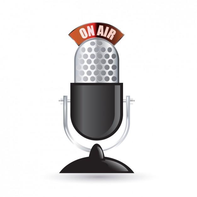 626x626 Vintage Radio Microphone Icon Vector Free Download