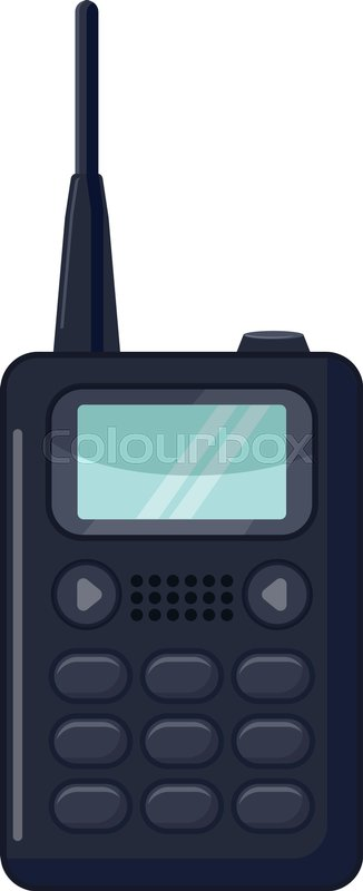 326x800 Portable Handheld Radio Icon. Cartoon Illustration Of Portable