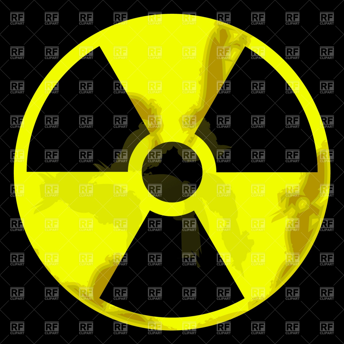 1200x1200 Radiation Warning Sign Vector Image Vector Artwork Of Signs