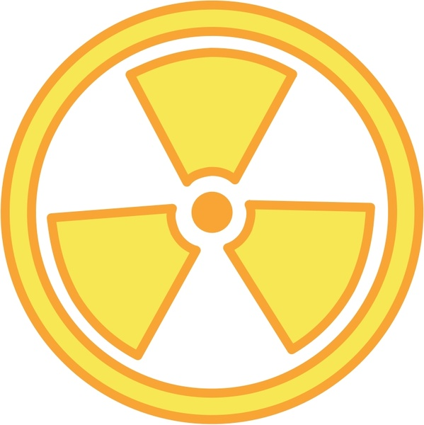 599x600 Radioactive Warning Free Vector In Open Office Drawing Svg ( .svg