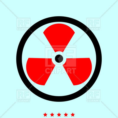 400x400 Sign Radioactive Icon Vector Image Vector Artwork Of Signs