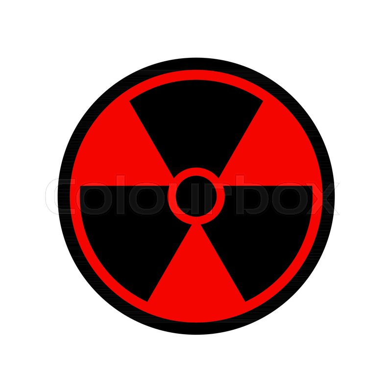 800x800 Vector Reproduction Of Radioactive Symbol Simple Design Icon