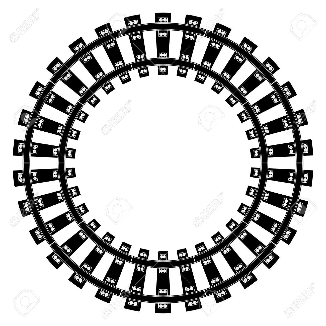 Railway Track Vector