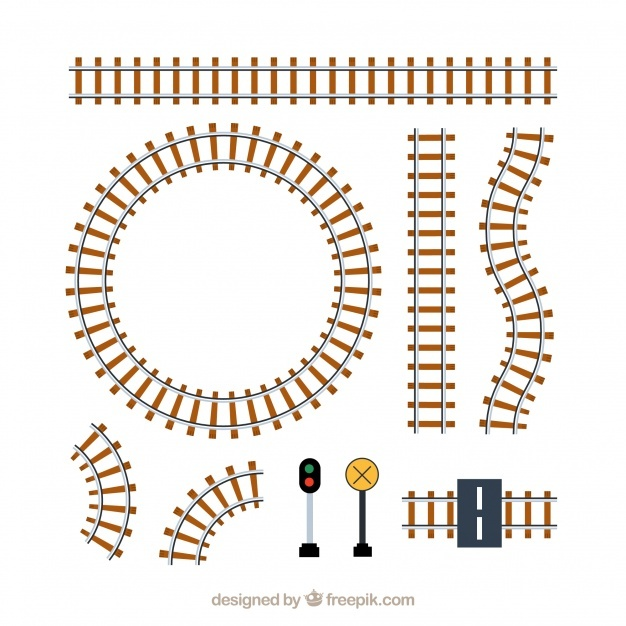 Railway Track Vector at GetDrawings com | Free for personal use