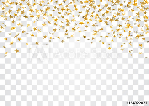 500x357 Gold Stars Falling Confetti Isolated On White Transparent