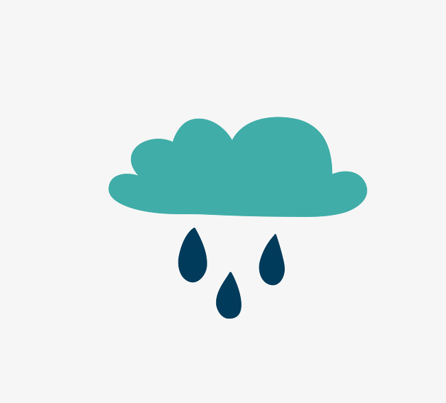 650x587 Vector Green Cartoon Rain And Rain Dripping Rain, Green Vector