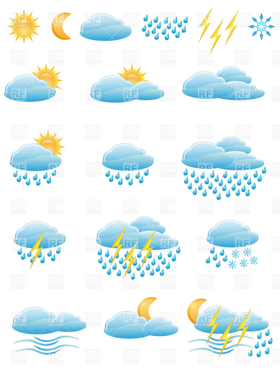 900x1200 Weather Forecast And Meteorology Icons
