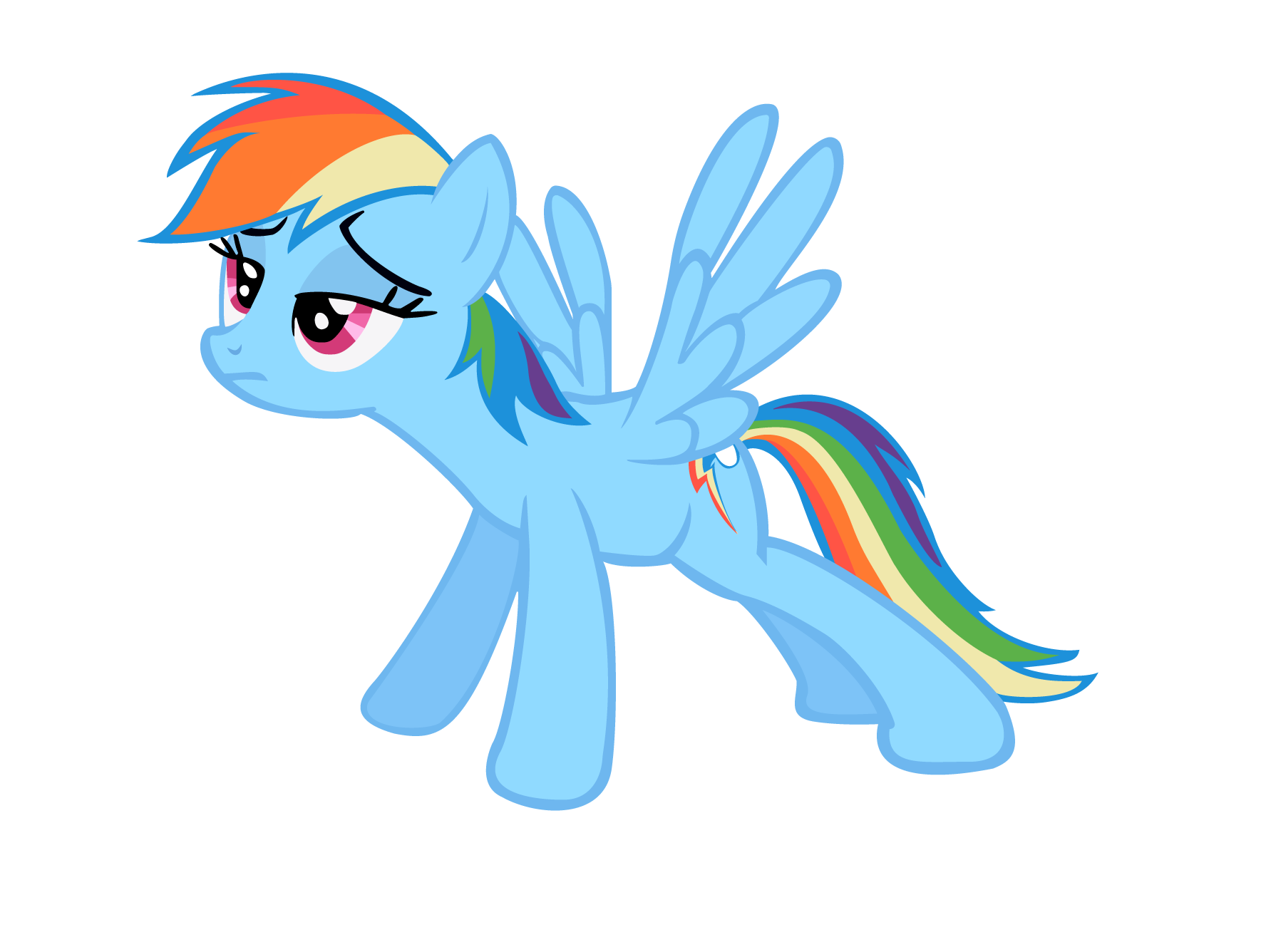 1776x1336 Rainbow Dash Stretching (Vector