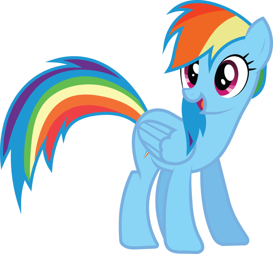 900x839 Rainbow Dash Vector Standing Png Photos Png Mart