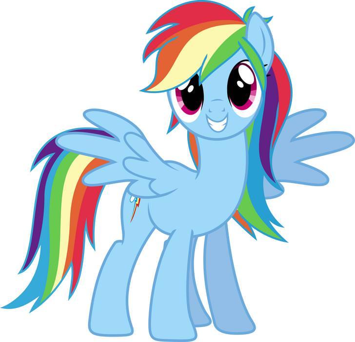 728x702 Rainbow Dash Vector.