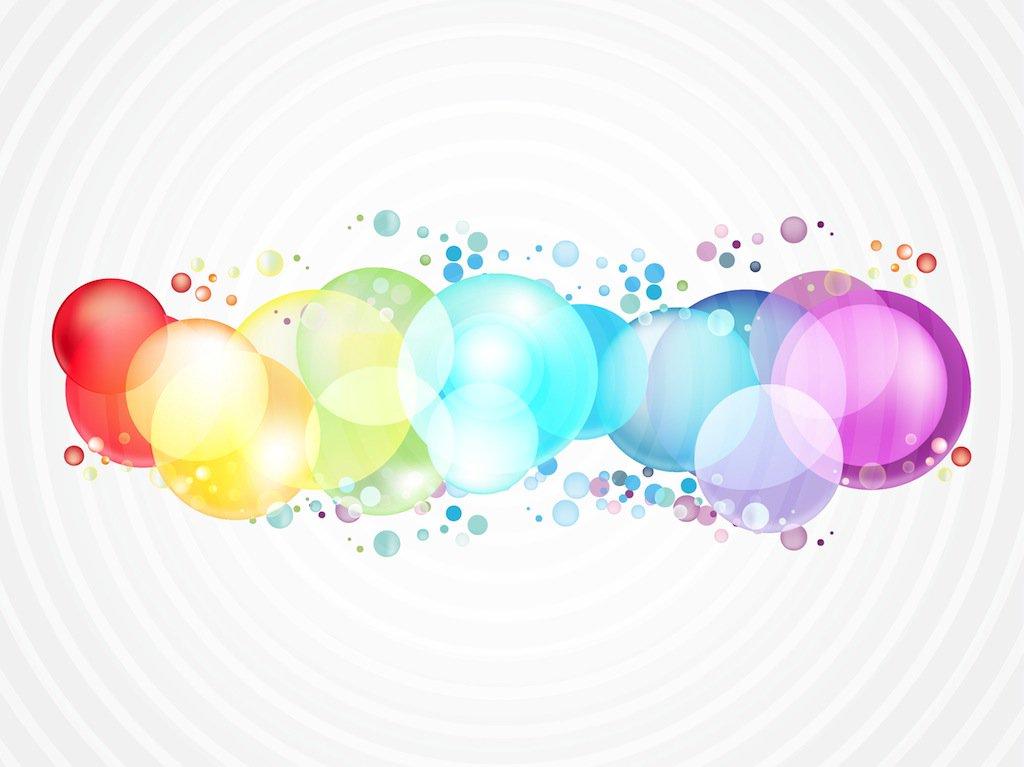 1024x767 Rainbow Color Bubbles Vector Art Amp Graphics
