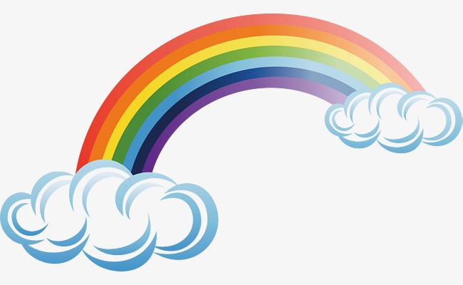 650x400 Rainbow Png Vector Element, Rainbow Vector, Rainbow Vector, Color