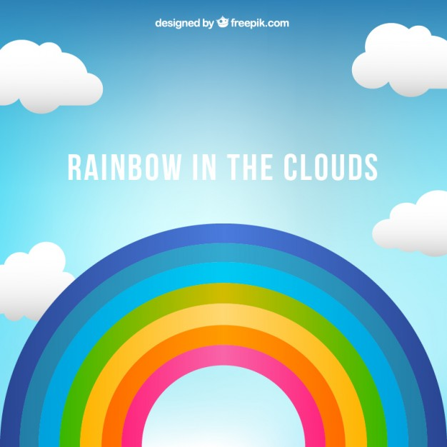 626x626 Rainbow In The Clouds Vector Free Download
