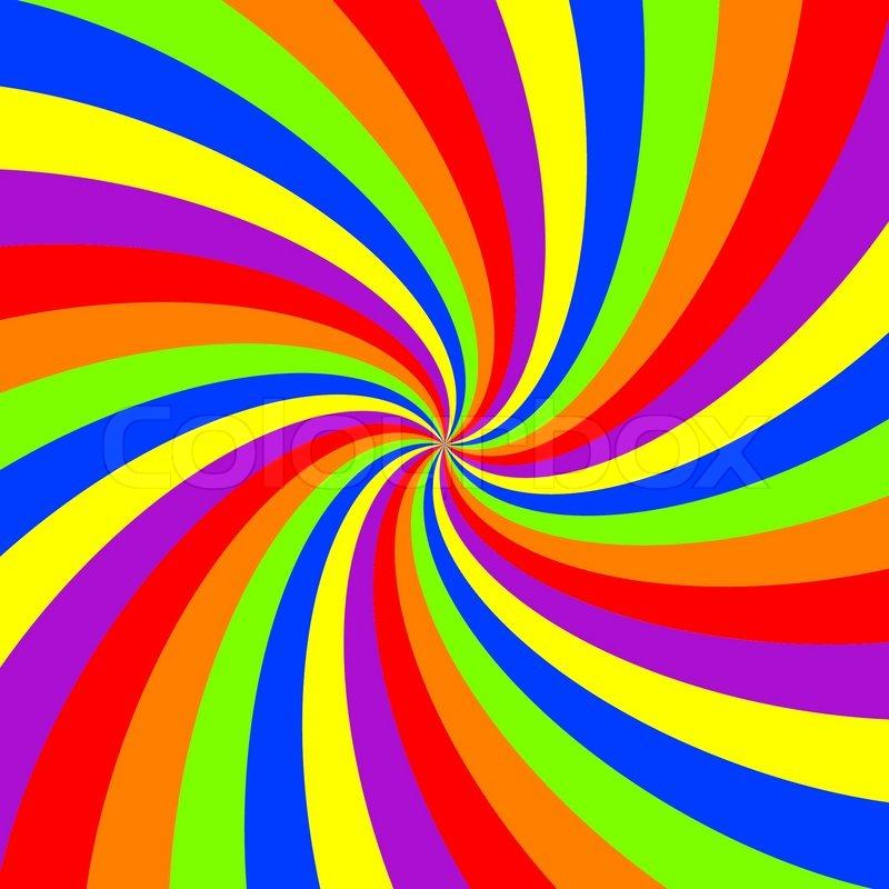 800x800 Rainbow Swirl Pattern, Abstract Vector Art Illustration Stock
