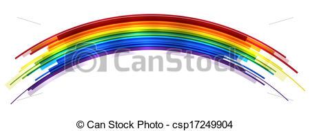 450x191 Rainbow. Abstract Bright Rainbow Icolated On White. Eps10 Vector.