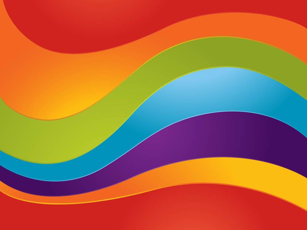 1024x765 Curved Rainbow Vector Vector Art Amp Graphics