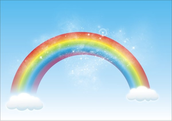 600x424 Rainbow Vector Free Vector In Coreldraw Cdr ( .cdr ) Vector